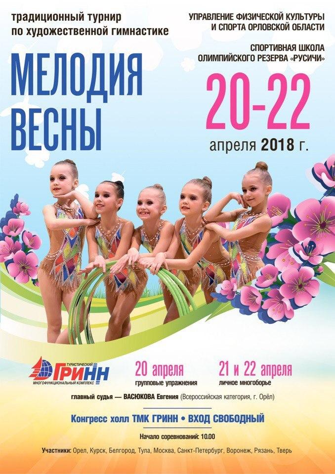 Турнир по художественной гимнастике «Мелодии весны»